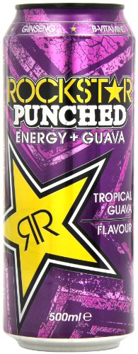 Rockstar Punched Guava Energy Drink 500 ml (Pack of 12)