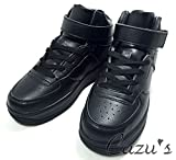 (Cazu's) レディース ハイカット スニーカー フィット 感 バツグン / スポーツ シューズ ボリューム ソール & 履き口 クッション インソール 入 / カジュアル 靴 (10: ブラック 23.0 cm)