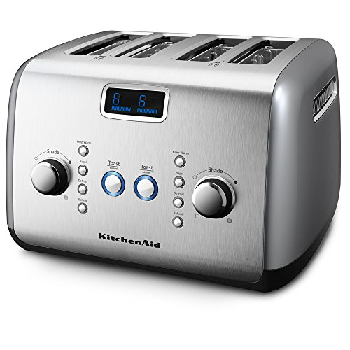 KitchenAid KMT423CU 4-Slice Toaster with One-Touch Lift/Lower and Digital Display - Contour Silver (Kitchenaid Digital Toaster Oven compare prices)