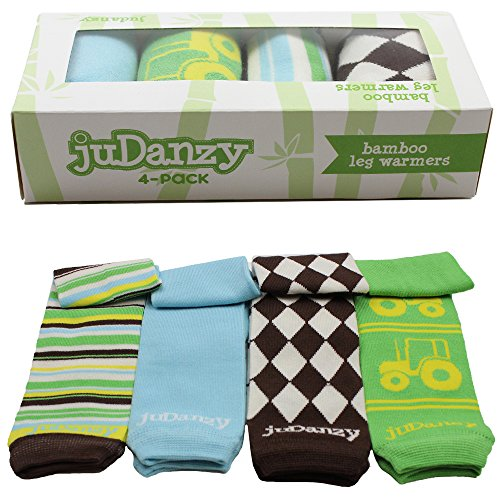 JuDanzy 4-pack Bamboo baby & toddler leg warmers gift set for boys & girls (Newborn (up to 12 pounds), Rancher Roy 4-pack)