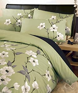Oriental Floral Duvet Cover Set Luxury Poly Cotton Bedding