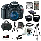 Canon EOS Rebel T3 12.2MP DSLR Camera & 18-55MM IS II Lens + Zeikos 58mm 2.5X Telephoto & Wide Angle Lens Set + Accessory Kit