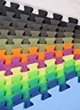 """5/8"""" Premium Interlocking Foam Tiles - Ideal for p90x, Insanity, pilates, yoga, other aerobic/cardio work outs, and kids playrooms"""