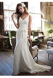 SAMPLE: Chiffon Wedding Dress with Ruffle Detail and Lace Style AI16030046