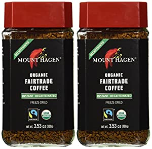 2 Pack Mount Hagen Organic Decaffeinated Instant Coffee 3.5oz/100g from Mount Hagen