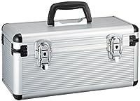 Alumi Case, Cosmetic Accessory CD Case, AM-34CD - Silver Aluminum Traveling Case