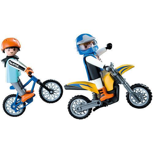 Playmobil 5930 motocross riders large set toys games - Moto cross playmobil ...