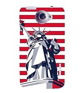PrintVisa Travel USA Art 3D Hard Polycarbonate Designer Back Case Cover for HTC One X