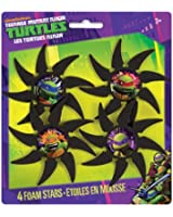 Foam Teenage Mutant Ninja Turtles Throwing Stars, 4ct