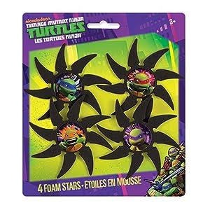 Teenage Mutant Ninja Turtles Foam Throwing Stars, 4 Count