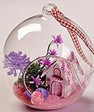 おしゃれな 球体ガラス 組立式 ミニチュアドールハウス 不思議の国の小屋 プレゼントに 吊るせる1