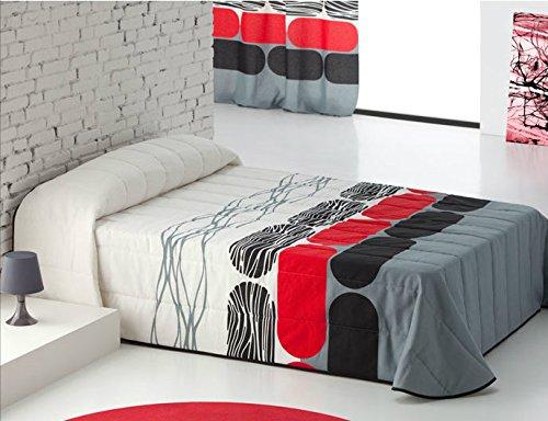 DECOARTESANAL-Colcha bouti Berna para cama 105cm,color LILA