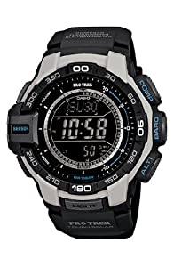 Men's Casio Pro Trek Tough Solar Triple Sensor Digital Watch