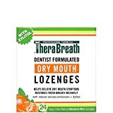 TheraBreath Dentist Formulated Dry Mouth Lozenges, Sugar Free, Mandarin Mint Flavor, 24 Count