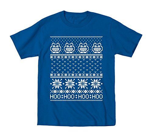Ugly Sweater Owls Funny Holidays Christmas Party - Toddler T-Shirt - Royal Blue - 2T