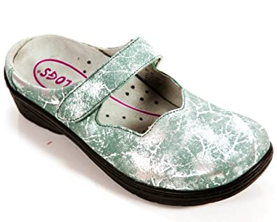 CLOGS BY KLOGS USA VALLEY WOMEN'S SHOES BLUE CRACKLE 8M