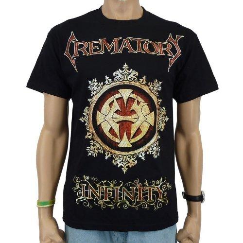 Crema Tory-T-shirt medaglione Band, Nero, Uomo, CREMATORY - MEDAILLON T-Shirt, Größe L, nero, L