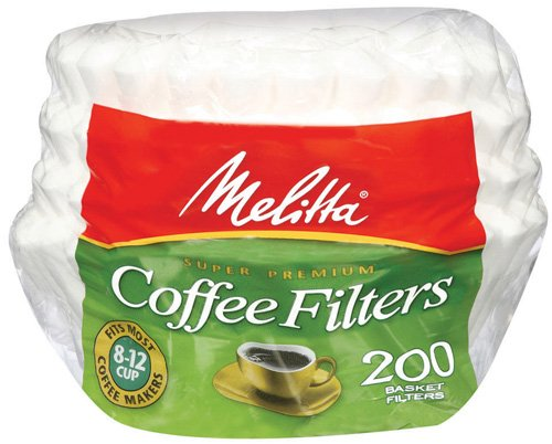 Melitta Basket Coffee Filters, White Paper, 6.4 Ounce (Pack Of 24)