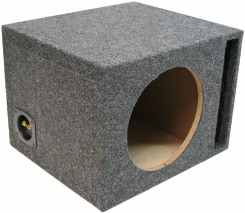 "Asc Single 15"" Subwoofer Universal Fit Vented Port Sub Box Speaker Enclosure"