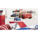 Roommates Rmk1754Flt Disney Cars Lightening Mcqueen Collage Peel And Stick Flat Pack With Augmented Reality