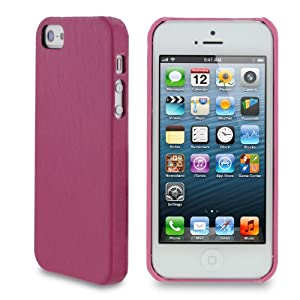 rooCASE Ultra Slim (Pink) Leather Shell Case for Apple iPhone 5 (Newest iPhone Sept 2012) - Updated Version Perfect Snug Fit