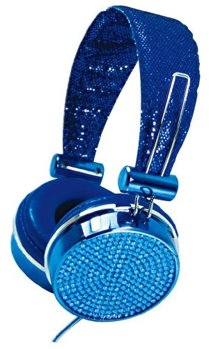 Hype Jewel Hy-955-Blu Blue 3.5Mm Stereo Headset Headphones W. Mic & Answer Button