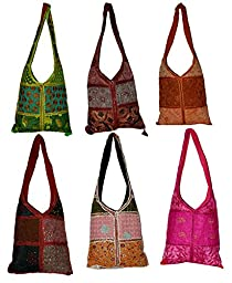 10 Big Jhola Bags Patchwork Hand Made Long Purse Gypsy India Wholesale Lot