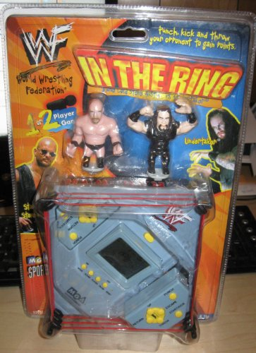 Buy Low Price MGA Sports WWF In The Ring Deluxe Wrestling Handheld Game w/ 2 Stonecold & Undertaker Figures (B003ZPMGGI)