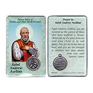 Amazon.com : Saint St St. Andrew Avelino Prayer Card Holy