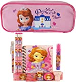 Disney Princess Sofia Pencil Case with Stationery Set - Pink