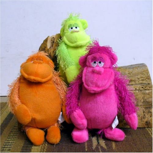 Neon Gorilla Plush Assorted Colors, 3 Pack - Buy Neon Gorilla Plush Assorted Colors, 3 Pack - Purchase Neon Gorilla Plush Assorted Colors, 3 Pack (Oriental Trading by Creative Ventures, Toys & Games,Categories,Stuffed Animals & Toys,Animals)