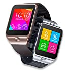 Indigi® 2-in-1 GSM Unlocked Bluetooth Sync Smart Watch for iPhone 6 iPhone 6 plus Galaxy S5 Galaxy S4 Note 4 (Silver)