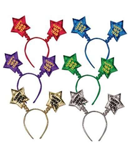[Happy New Year Star Boppers 1/pkg, Pkg/3 by PMU] (Happy New Year Boppers)