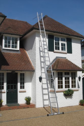 6.77m - 3 Section Extension Ladder with Integral Stabiliser