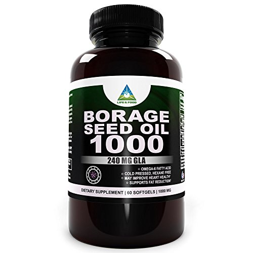 Lf Gla 240 (Super) Borage Seed Oil 1000Mg Fights Belly Fat & Improves Health *Hexane Free*(60 Softgels)