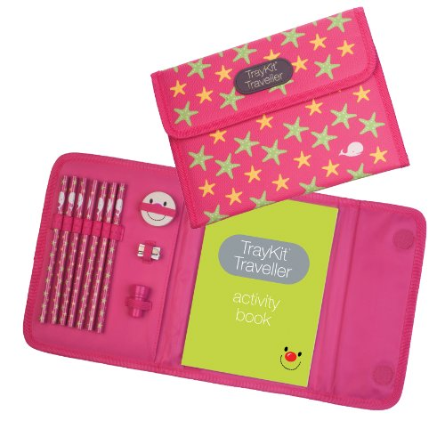 Content&Calm Traveller Journal for Kids (Pink Star)