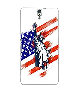 PrintDhaba Statue Of Liberty D-5954 Back Case Cover for SONY XPERIA C5 ULTRA (Multi-Coloured)