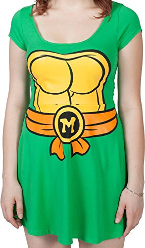 Teenage Mutant Ninja Turtles I Am Michelangelo Women's Skater Dress