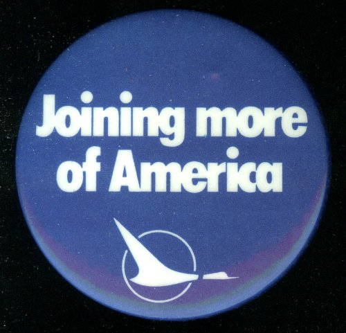 "North Central Airlines Joining More Of America 2 1/2"" Diameter Airline Pin front-1037540"