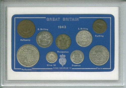 1943 British Coin Birth Year Gift Set (70th Birthday Present or Wedding Anniversary)
