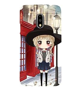 Stylish girl in Pattern of Flowers Designer Back Case Cover for Motorola Moto G4 Plus
