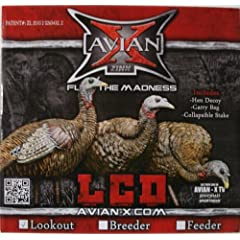 Lookout Turkey Decoy LCD Hen Collapsible - Avian X Zink Calls by Avian-X Lookout