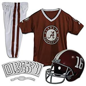 Franklin Sports NCAA Alabama Crimson Tide Deluxe Youth Team Uniform Set, Small