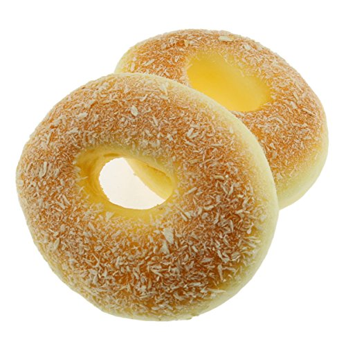 Moving Box 2 PCS Fake Cake Artificial Doughnut Bread Food Model Decoration Kitchen Toys Prop
