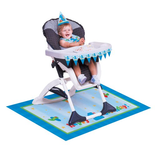Creative Converting Fun At One Happy First Birthday Boy High Chair Kit