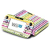 Chevron Rainbow Color Pattern Decorative Decal Cover Skin for Nintendo Wii U Console and GamePad