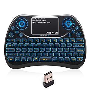 Anewish ミニ キーボード USB ワイヤレス キーボード 無線 小型 2.4GHz