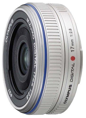 Olympus M.ZUIKO DIGITAL ES-M 17mm 1.2.8 Silver Pancake Lens