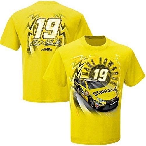 carl-edwards-19-youth-speedbolt-jr-t-shirt-yellow-xl-by-checkered-flag