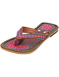 Footrendz Girls Ethnic Adorable Synthetic Leather Flats